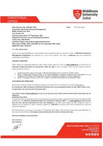 Offer Letter Of Canadore College Conditional Offer Middlesex Uni 2015 Nl
