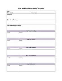 Development Planning Template by Staff Development Planning Template