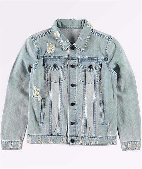 light blue denim jacket elwood boys trucker light blue denim jacket zumiez