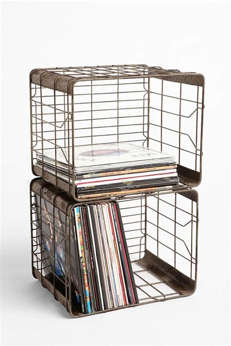 Wall Mounted Record Rack by 25 Best Ideas About Wire Storage On Wire