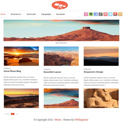 top 5 free wordpress themes for photographers