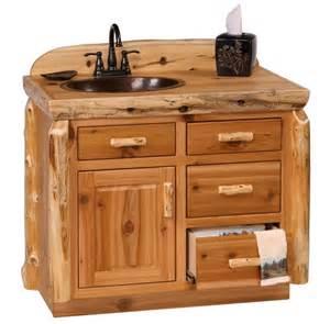 Rustic log bathroom vanity log cabin vanity pine log furniture jpg