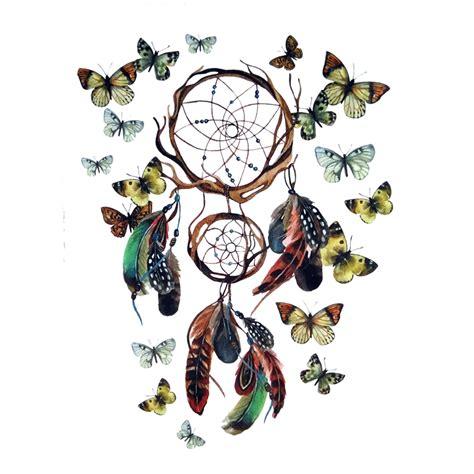 dreamcatcher tattoo temporary butterfly waterproof temporary tattoo stickers