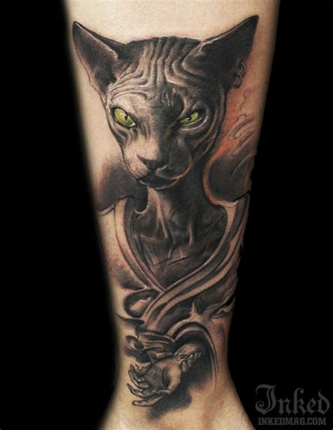 sphinx tattoo designs sphinx cat with green by littledragon