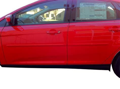 ford focus side moldings painted in the factory paint code of your choice rr