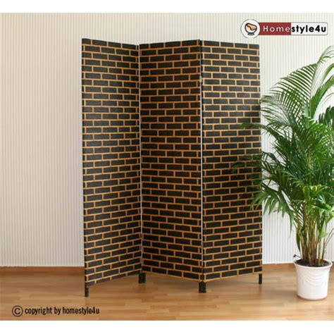 Wicker Room Divider Wicker Room Divider Screen In Black Beige Brand New Ebay