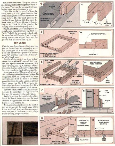 picture frame woodworking plans desk picture frames plans woodarchivist