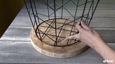 wire basket side table how to a side table from wire basket