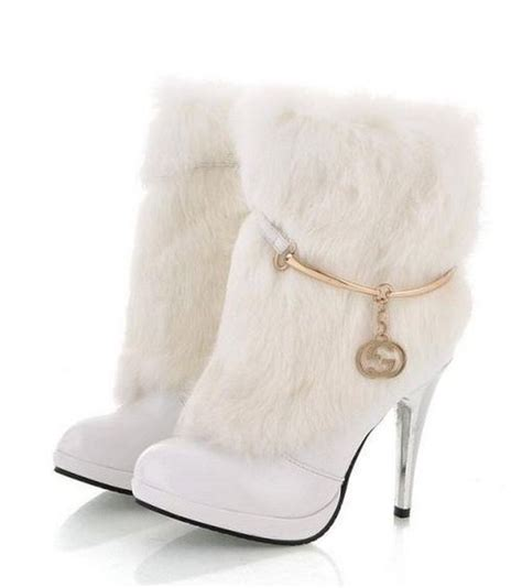 winter white high heel boots winter boots winter and boots on
