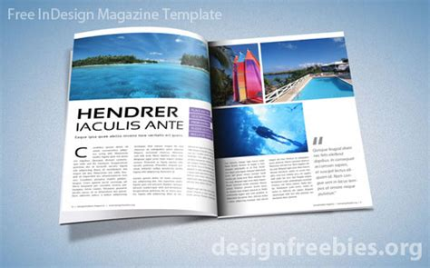 free magazine templates for free exclusive indesign magazine template v 2 designfreebies