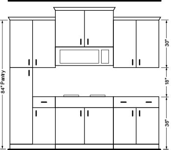 standard wall cabinet height custom kitchen cabinets hd supply