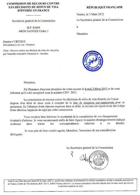 Exemple Lettre De Recours Visa Refus De Visa Tribunal Administratif Nantes