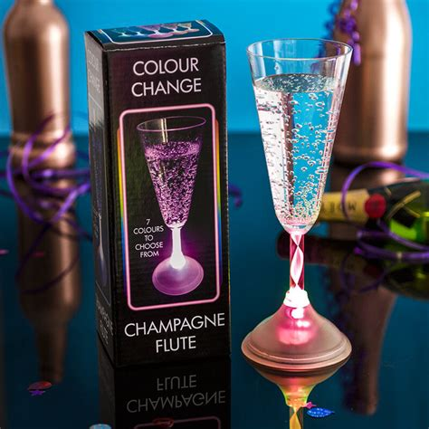 led chagne glass buy from prezzybox com