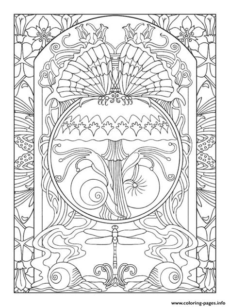 art anti stress adult nature zen coloring pages printable
