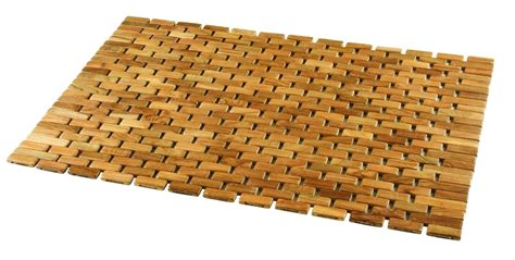 Home Design Exterior And Interior by Wood Shower Mat Give A Little Natural Accent To Your