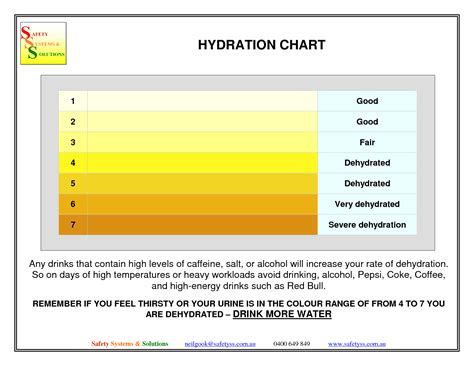 hydration urine chart challenge 2 hydration big changes through small