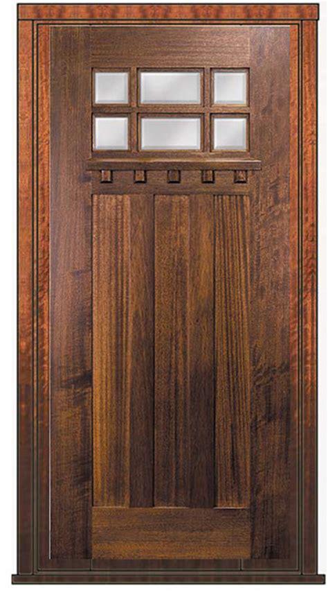 prehung single door  wood mahogany craftsman  lite tdl