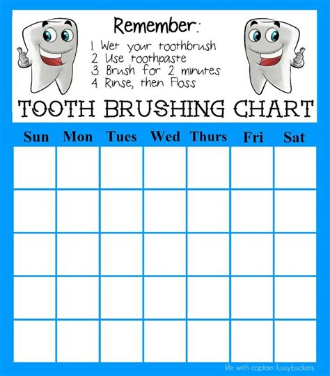 printable tooth brushing reward chart remove the chemicals and clean up your personal care