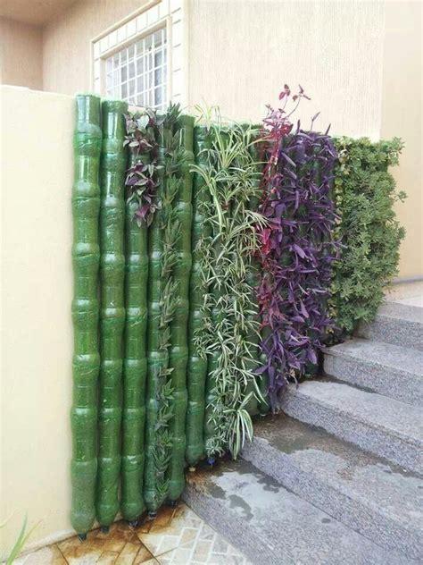 plastic bottle planter wall vertical garden diy