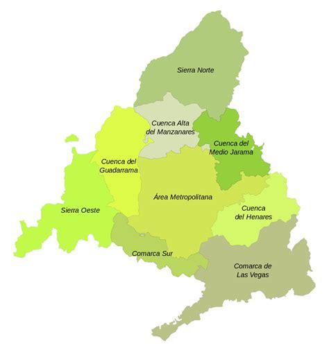 comunidad de madrid madridorg madridorg comunidad file mapa comarcal de la comunidad de madrid svg
