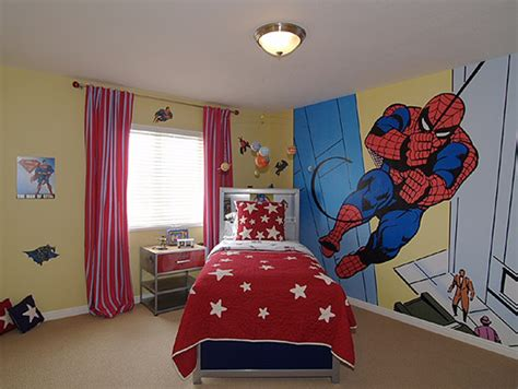 room decor themes spiderman bedrooms