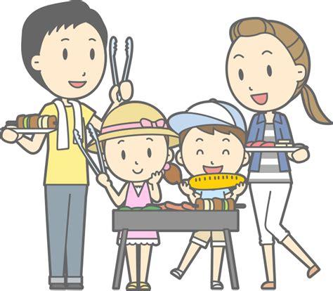 Backyard Small Clipart Family Barbecue 2