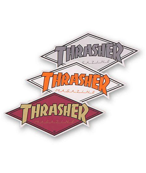 thrasher diamond logo assorted sticker zumiez