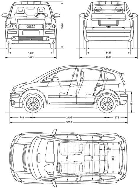Audi A2 Abmessungen by Index Of Blueprints Audi