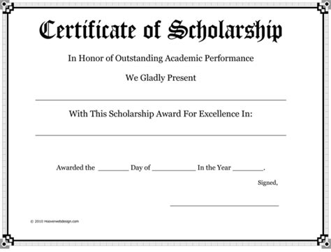 free templates for scholarship awards 5 plus scholarship award certificate exles for word and pdf