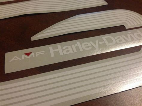 amf harley davidson gas tank decals stickers sportster dyna motorcycle parts accessories