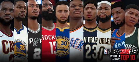 top 10 best players top 10 best nba 2k18 players fadeaway world