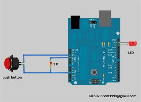Arduino Code Push Button | geekgoing blogspot com interfacing push button with arduino