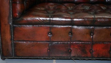 restored chesterfield sofa restored 1940s chesterfield dyed aged leather