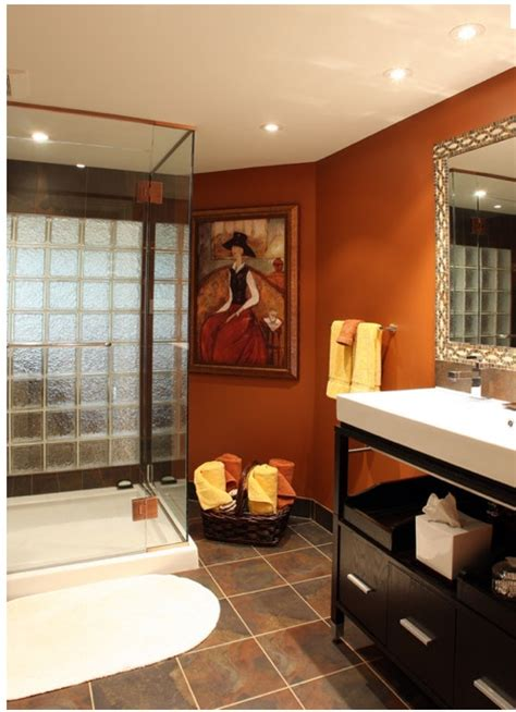 Burnt Orange Bathroom Burnt Orange Bathroom Burnt Orange And Rust Pinterest