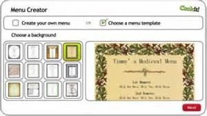 Tudor Menu Template by Menu Maker Activity Cookit