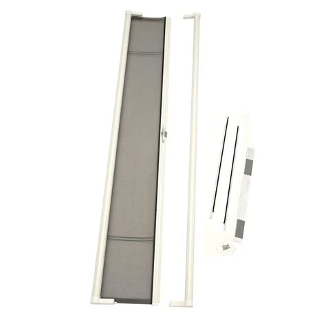 odl 36 in x 96 in brisa white retractable screen door brtlwe the home depot