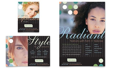 beauty hair salon flyer ad template design