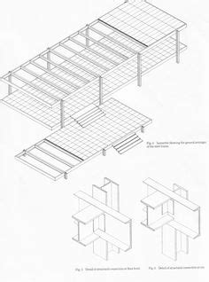 Philip Johnson Glass House Building Floor Plans Scaled by Farnsworth House Mies Der Rohe 1951 Floor Plan