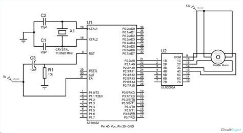 stepper motor interfacing with 8051 microcontroller at89s52