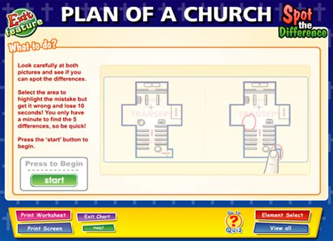 layout features ks2 plan of a church content classconnect