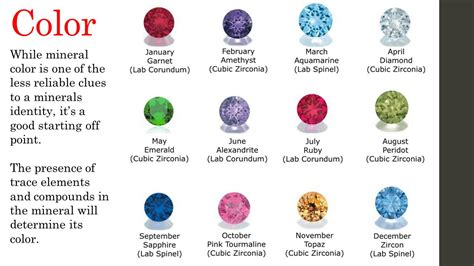 what color is mineral minerals ppt