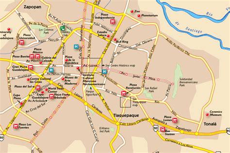 guadalajara map guadalajara mexico map