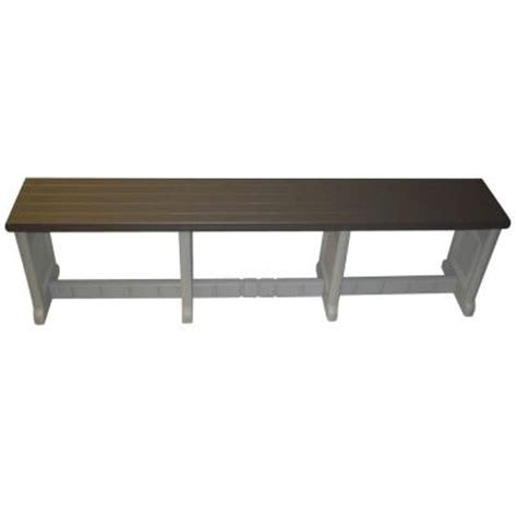 patio storage bench home depot leisure accents 74 in portabello resin patio bench lapb74
