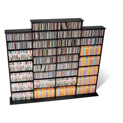 high capacity dvd storage cabinet prepac black media storage bma 1520 k the home depot