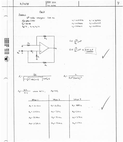 high pass filter lab experiment sixth order high pass chebyshev filter lab notes 1