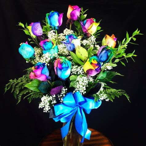 Calla Lilies In A Vase Amazing Rainbow Roses In Moreno Valley Ca Garden Of Roses