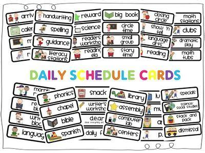 daily schedule cards template daily schedule cards free printables classroom daily