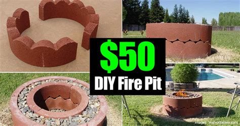 how to build a backyard pit out of bricks 50 dollar pit diy and movable
