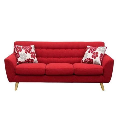 red fabric sofas diamond sofa scarlett fabric sofa in rouge red scarlettsore