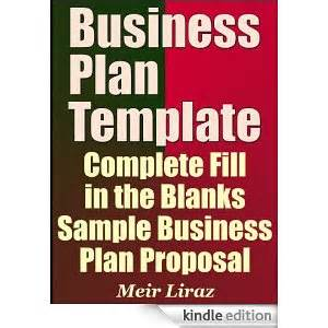 Fill In Business Plan Template by Business Plan Template Complete Fill In The Blanks